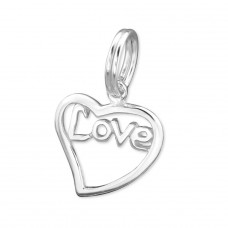 Heart - 925 Sterling Silver Charms with split ring A4S29276