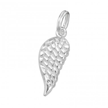 Wing - 925 Sterling Silver Charms with split ring A4S29284