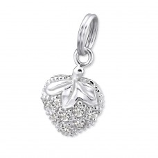 Strawberry - 925 Sterling Silver Charms with split ring A4S29892