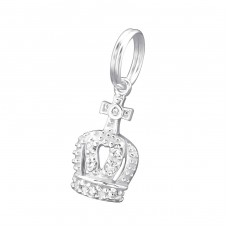 Crown - 925 Sterling Silver Charms with split ring A4S29894