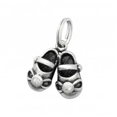 Shoes - 925 Sterling Silver Charms with split ring A4S29912