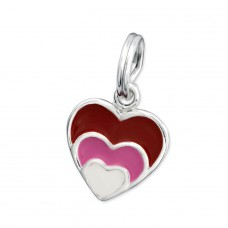 Heart - 925 Sterling Silver Charms with split ring A4S29948