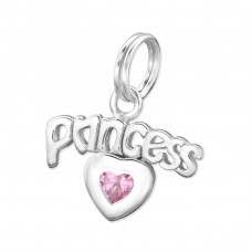 Princess - 925 Sterling Silver Charms with split ring A4S29972