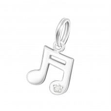 Music Note - 925 Sterling Silver Charms with split ring A4S29982