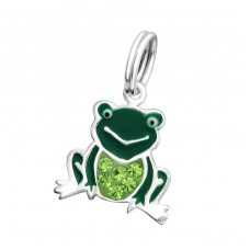 Frog - 925 Sterling Silver Charms with split ring A4S29983