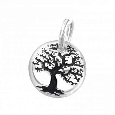 Tree Of Life - 925 Sterling Silver Charms with split ring A4S29985