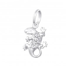 Gecko - 925 Sterling Silver Charms with split ring A4S29986