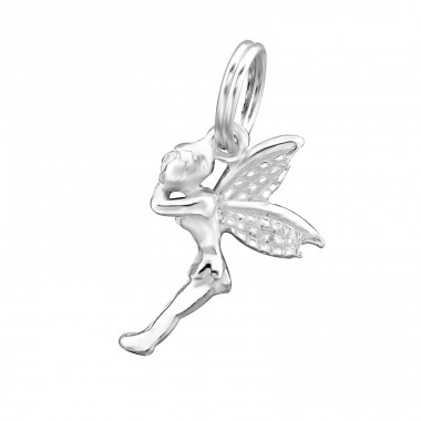 Fairy - 925 Sterling Silver Charms with split ring A4S30046