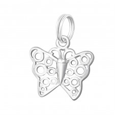 Butterfly - 925 Sterling Silver Charms with split ring A4S30049