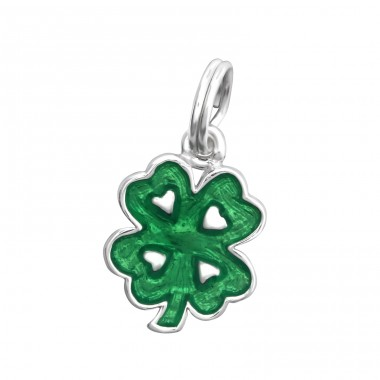 Shamrock - 925 Sterling Silver Charms with split ring A4S30052
