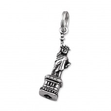 Statue Of Liberty - 925 Sterling Silver Charms with split ring A4S30341