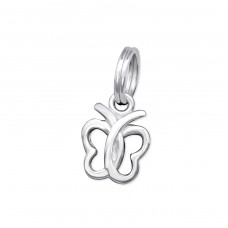 Butterfly - 925 Sterling Silver Charms with split ring A4S31756