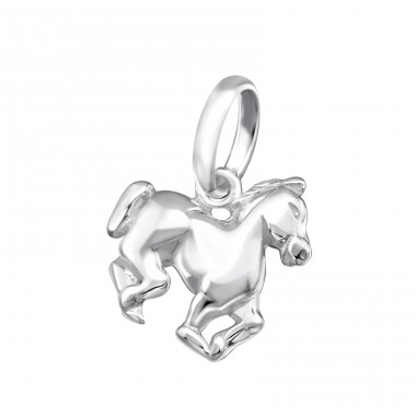 Horse - 925 Sterling Silver Charms with split ring A4S35358