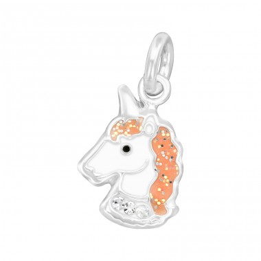 Unicorn - 925 Sterling Silver Charms with split ring A4S36378