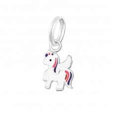 Unicorn - 925 Sterling Silver Charms with split ring A4S37223