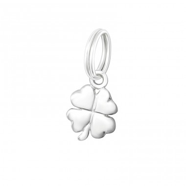 Lucky Clover - 925 Sterling Silver Charms with split ring A4S37226