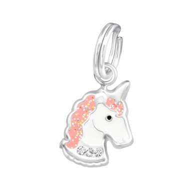 Unicorn - 925 Sterling Silver Charms with split ring A4S37557