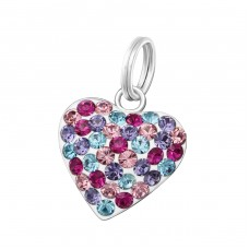 Heart - 925 Sterling Silver Charms with split ring A4S37678