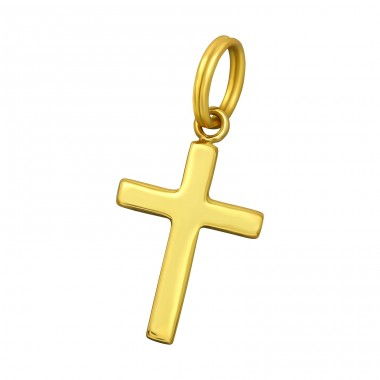 Cross - 925 Sterling Silver Charms with split ring A4S39332