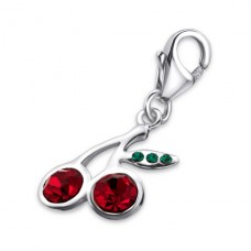 Cherry - 925 Sterling Silver Charms with lobster A4S902