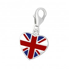 England Flag - 925 Sterling Silver Charms with lobster A4S10279
