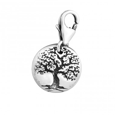 Tree Of Life - 925 Sterling Silver Charms with lobster A4S10368