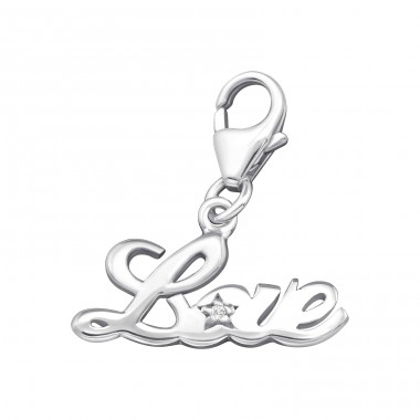 Love - 925 Sterling Silver Charms with lobster A4S11377