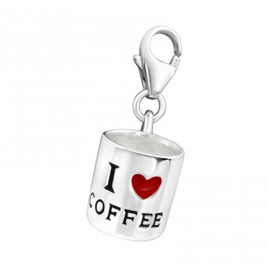 Coffee Cup - 925 Sterling Silver Charms with lobster A4S11690