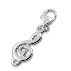 Treble Clef - 925 Sterling Silver Charms with lobster A4S12354
