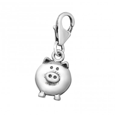 Pig - 925 Sterling Silver Charms with lobster A4S12723