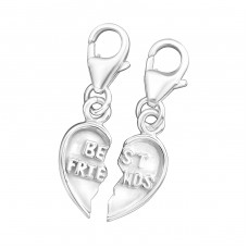 Heart - 925 Sterling Silver Charms with lobster A4S12912