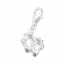 Shoe - 925 Sterling Silver Charms with lobster A4S14244