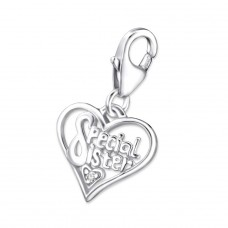 Heart - 925 Sterling Silver Charms with lobster A4S14520