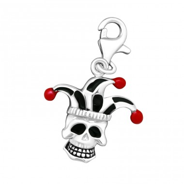 Skull - 925 Sterling Silver Charms with lobster A4S15308