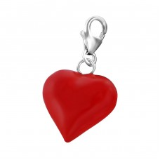 Heart - 925 Sterling Silver Charms with lobster A4S17513