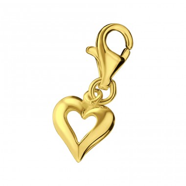 Heart - 925 Sterling Silver Charms with lobster A4S19391