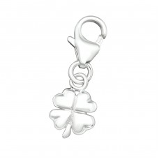 Shamrock - 925 Sterling Silver Charms with lobster A4S19591