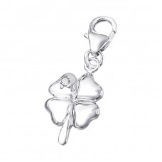 Four-leaf clover - 925 Sterling Silver Charms With Lobster A4S19879