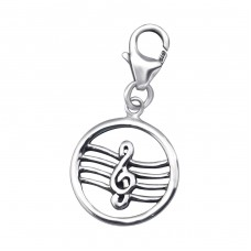 G-Clef - 925 Sterling Silver Charms with lobster A4S24577