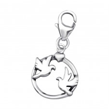 Birds - 925 Sterling Silver Charms With Lobster A4S24579