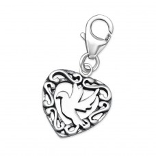 Bird - 925 Sterling Silver Charms with lobster A4S24584