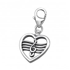 G-Clef - 925 Sterling Silver Charms with lobster A4S24586
