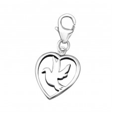 Bird - 925 Sterling Silver Charms with lobster A4S24588