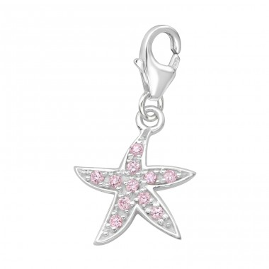 Starfish - 925 Sterling Silver Charms with lobster A4S2806