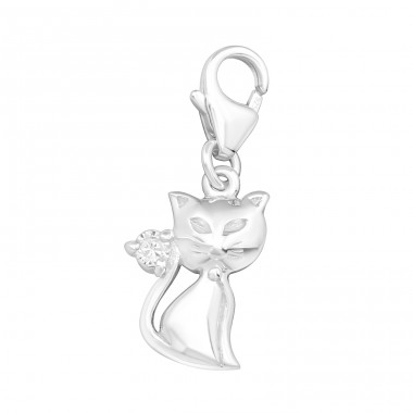 Cat - 925 Sterling Silver Charms with lobster A4S2807