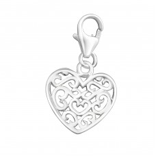 Heart - 925 Sterling Silver Charms with lobster A4S2810