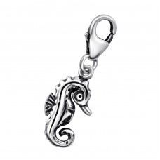 Seahorse - 925 Sterling Silver Charms with lobster A4S28284