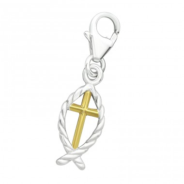 Cross - 925 Sterling Silver Charms with lobster A4S28875