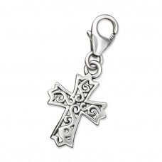Cross - 925 Sterling Silver Charms with lobster A4S28893