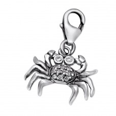 Cancer Sign - 925 Sterling Silver Charms with lobster A4S29506